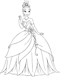 Coloriage Disney Princesse Tiana
