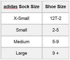 adidas sizing chart adidas socks size chart chart paketsusudomba co