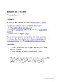 Compound Sentences English Esl Worksheets
