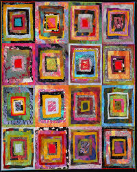 """Texas Quilt Museum causes """"Gridlock"""" this spring with three new ... & Wildflowers II, by Sue Benner Adamdwight.com"""