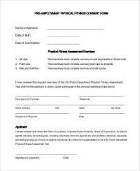 Pre Employment Application Template Sample Pre Employment Physical Forms 7 Free Documents In Pdf