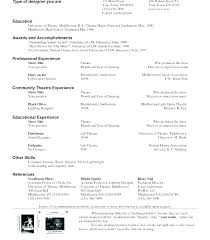 Theatre Resume Templates Custom Cv Resume Template Word Theatre Resume Templates Theatrical Template