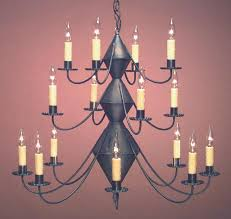 hammerworks high quality colonial foyer style chandeliers ch303 shown handcrafted in antique tin