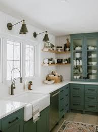 Pin by Ashley Strey on kitchen   Green kitchen cabinets, Kitchen interior,  Diy kitchen renovation