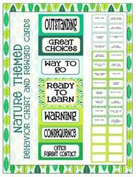 Nature Themed Behavior Clip Chart