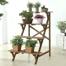 plant display stand beautiful plant display stand 4 tier wood slat plant rack indoor outdoor garden