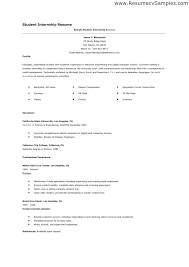 Internship Resume Examples Junior Marketing Sample Malaysia