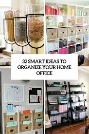 organize office. Plain Office 32 Smart Ideas To Organize Your Home Office Cover Throughout Organize Office