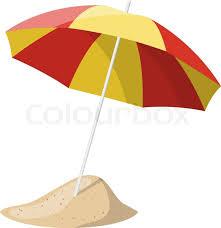 beach umbrella. Contemporary Umbrella Beach Umbrella Isolated Over White Background Vector Illustration  Stock  Colourbox Intended Umbrella