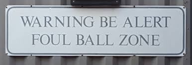 Image result for baseball fair and foul ball signs
