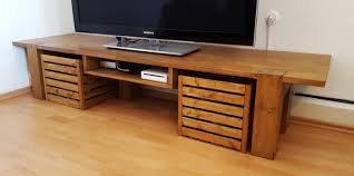 My second DIY furniture: TV table with console- and cable-compartments. ~90
