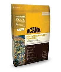 Acana Food Chart Acana Heritage Free Run Poultry Dry Dog Food 25 Lb