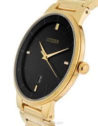 citizen quartz mens watch black dial gold tone steel case citizen quartz mens watch black dial gold tone steel case bracelet