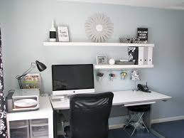 home office makeovers with wall shelves