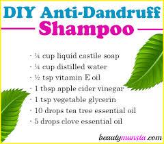 diy anti dandruff shampoo with tea tree oil