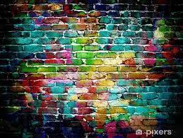 graffiti brick wall wall mural pixers