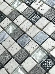 silver gray glass mosaic tile 2 tiles wallpaper