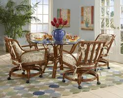 casual dining chairs with casters: oak dining chairs on casters dining room chairs