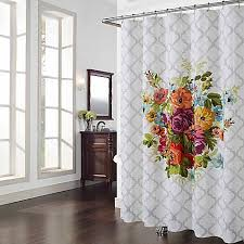 modest ideas floral shower curtains extraordinary idea melissa multicolor curtain bed bath beyond