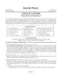 Chartered Accountant Resumes Accounting Resume Template