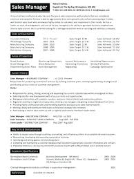 Sample Resumes For Sales Executives Sales Manager Resume Format