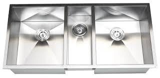 42 inch stainless steel undermount zero radius triple bowl kitchen sink