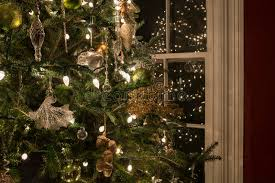 Christmas Tree IN Window With Paper Texture Stock Photos Christmas Tree In Window
