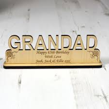 personalised grandad wood plaque