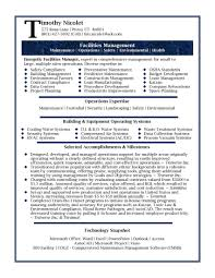facility manager resume manager resumes samples