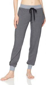 Felina Womens Loungewear Jamie Drawstring Jogger Pant Trade Winds Xl
