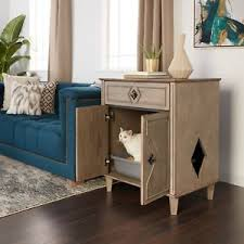 litter box hidden. Image Is Loading Weathered-Grey-Hidden-Cat-Litter-Box-Side-Table- Litter Box Hidden T