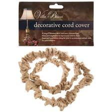 natural burlap decorative cord cover