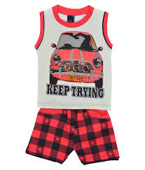 elk multicolour boys cotton t shirt coat with bottom set available at snapdeal for rs