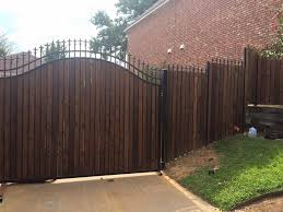 wrought iron privacy fence. Wrought Iron Fence With Wood Pickets Swing Gate Denton Tx Installation Privacy O