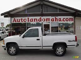All Chevy 97 chevy k1500 : 1997 Olympic White Chevrolet C/K K1500 Regular Cab 4x4 #18571703 ...