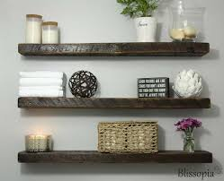 interior floating shelf open shelving wall shelf shelving reclaimed reclaimed wood floating shelves trends design
