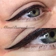 татуаж глаз стрелки с растушевкой в харькове 8 салонов 23 мастера