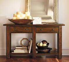 pottery barn bench style office desk rustic. Benchwright Console Table, Rustic Mahogany Pottery Barn Bench Style Office Desk