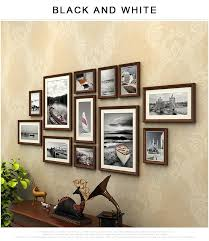 12 pcs set with black wall photo frames sets vintage photo frame large size photo frames