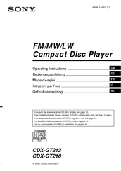 sony cdx gt212 manuals we have 3 sony cdx gt212 manuals available for pdf operating instructions manual service manual installation connections