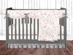 blush pink crib bedding set