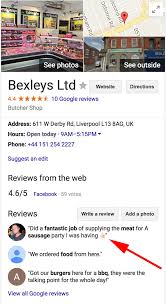 google local business reviews with emojis