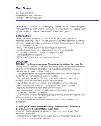 Resume Template Objectives For Management Resume Executive And Resumes For  Management Positions