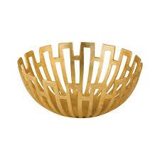 Gold Decorative Bowl Greek Starburst 12 In Decorative Bowl In Gold Tn 891889 The