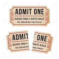 Ripped Vintage Paper Ticket Stub Vintage Tickets To The Cinema