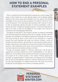 Ucas Personal Statement Examples How To Finish A Personal Statement With A Boom
