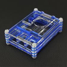 raspberry pi b 2 3 blue transpa plexiglass stratified fan compatible case