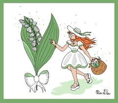 Brin de Muguet pour le 1er Mai ! - Dessins Miss Lilou