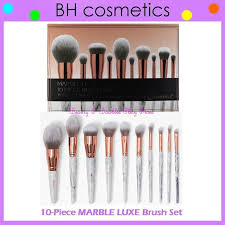 detalles acerca de new bh cosmetics marble luxe brush set 10 piece face eye