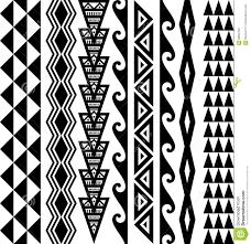 Hawaiian Seamless Tattoo Pattern Stock Vector Illustration Of